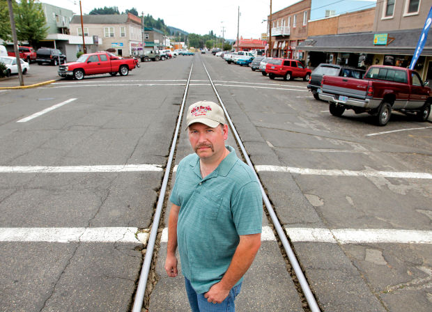 With the railroad tracks stretching right down the center of Rainier, mayor Jerry Cole is concerned about taking necessary safety precautions for oil unit trains running through town.