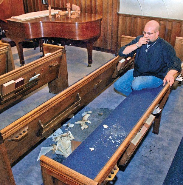 Vandals strike historic church, burn hymnals, damage piano ...