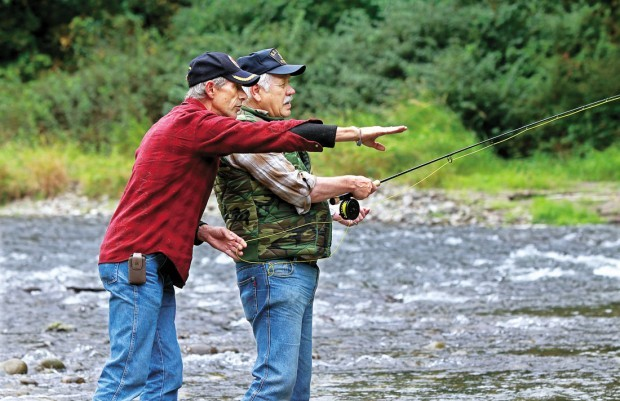 Veterans discover healing powers of fly fishing for Kalama river fishing