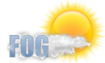 Cloudy with areas of morning fog