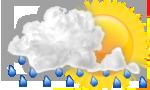 Cloudy, periods of rain