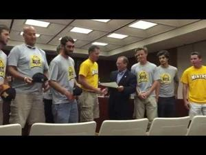 Madisonville Miners stop by City Council meeting
