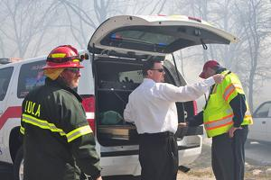 Firefighters save homes from wildfire Wednesday