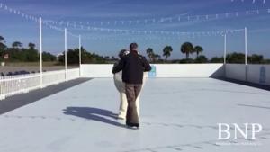 Turtle ice skating