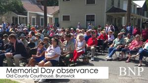 Memorial Day observance at old courthouse