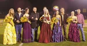 Homecoming court at game
