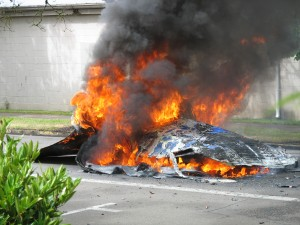 Local man escapes solar car fire st helens chronicle news