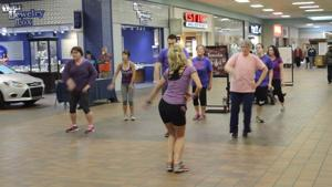 Zumba dancers moving to the beat