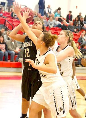 <p><strong>Scottsboro's Tisina Woods goes up for a shot against Fort Payne during the teams' Class 6A Area 13 Tournament semifinal Monday night. </strong></p><p><strong> </strong></p>