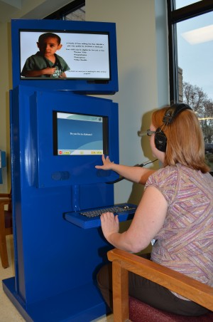 ALL Kids Insurance and Medicaid enrollment kiosk.