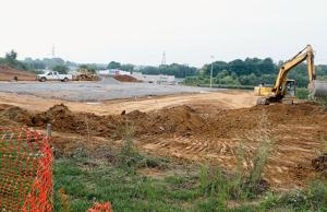 Ground preparation for Moe's at Hamilton Crossing