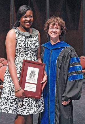 Onyeka Ononye and Dr. Jerilyn Swann