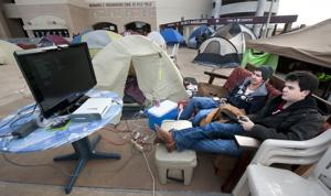 Camping out for the Cotton Bowl