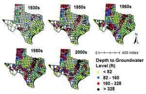 Study identifies factors for falling groundwater tables