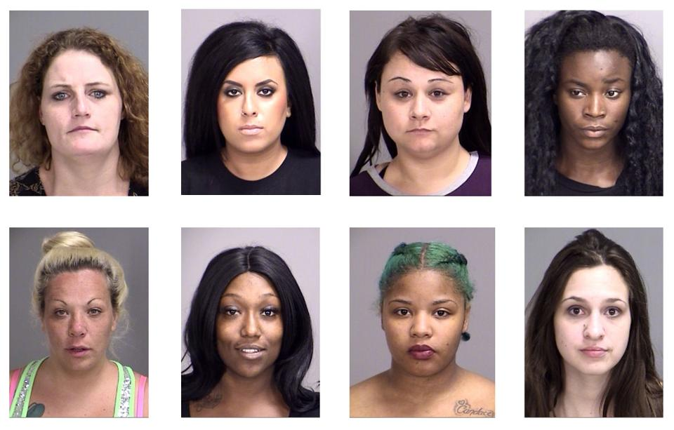 women arrested city prostitution bust