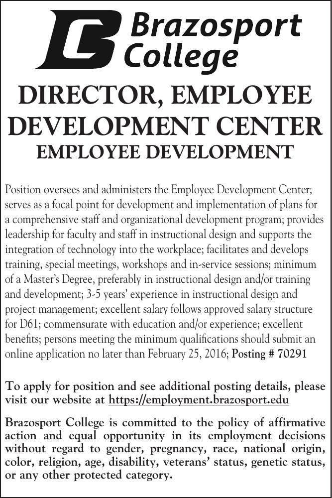Bport College Hiring Director