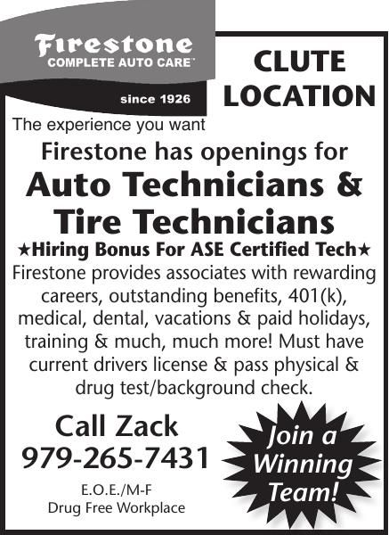 Firestone Has Openings