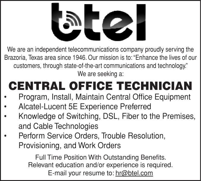 BTEL Seeking Office Tech