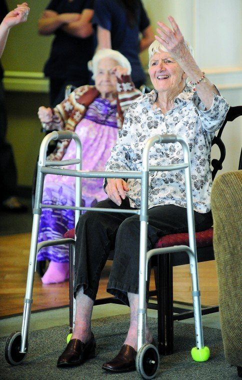 Mature moves chair zumba gets seniors moving news for Chair zumba