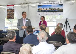 <p>Kroger Director of Retail Operations for Greater Houston Shea Wade speaks Friday during the company's groundbreaking ceremony for its new Kroger Marketplace store in Clute.</p>