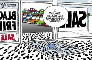 Bruce Plante Cartoon: Black Friday