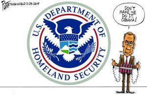 Bruce Plante Cartoon: U.S. House Speaker John Boehner warns President Barack Obama
