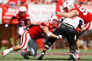 college football-Nebraska-Arkansas State-Will Compton, Baker Steinkuhler, Ryan Aplin