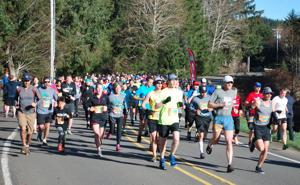 <p>Runners head off at the start of the 7th Annual Lincoln City Half Marathon and 10K held March 1.</p><p>Jeremy C. Ruark / the News Guard</p>
