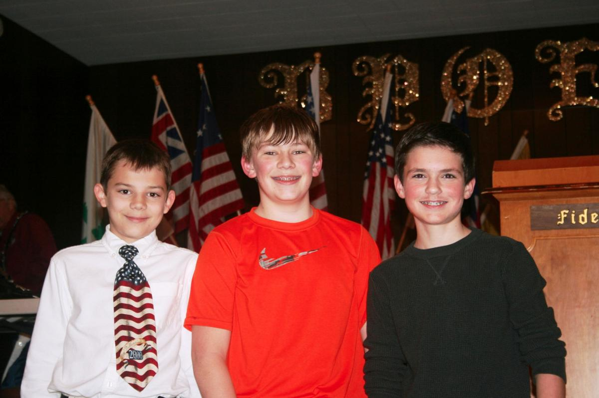 americanism essay contest the winners americanism essay contest news thenewsguard com left to right aidan sayles jace fostveit and
