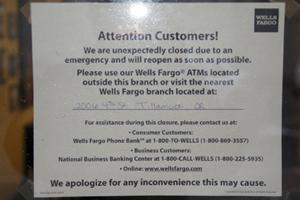 Wells Fargo closes due to armed robbery