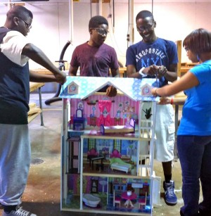 PHS constructs dollhouse