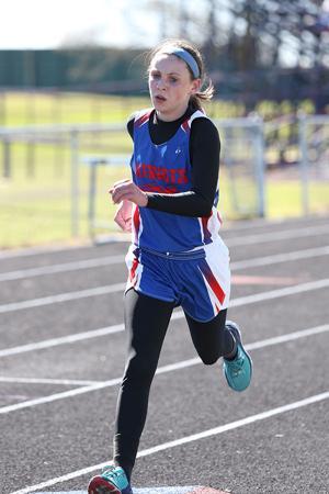 <p>Prairiland's Lauren Ross runs the 3200-meter race during a meet earlier this year.</p>