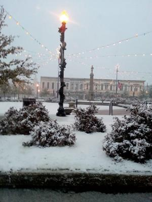 Snow Clarksville Square David Bowers