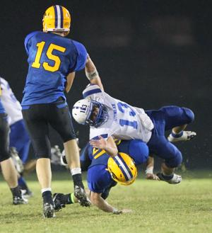 North Lamar - Kelley blocks a defender