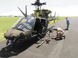 Texas facility returns damaged helicopters to flight