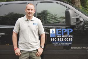 """<p class=""""p1"""">KEVIN EPP, owner and operator of Epp Well Solutions, said his company developed the first intuitive well water capturing system. The system will automatically capture and store well water for over a period of 24 hours a day, getting all the water available in a well.</p>"""