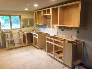 """<p class=""""p1"""">THIS PHOTO SHOWS a work in progress on a custom kitchen remodel that Jesse Parke of MC2 Woodworking has been working on over the past month. MC2 Woodworking specializes in residential and commercial remodels.</p>"""