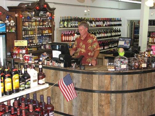 Downtown Liquor Store Displays Local Spirit Business