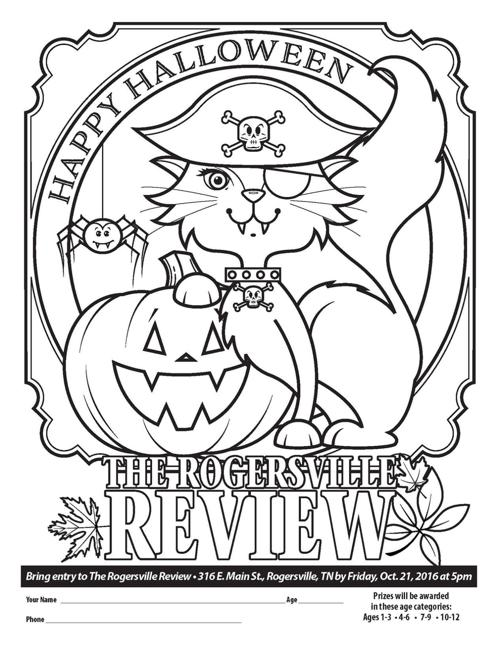 2016 halloween coloring contest entry form