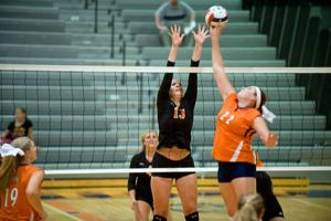 Photos: Action from Carterville vs Herrin volleyball