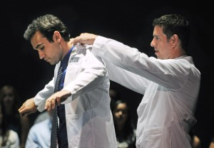 Med students receive white coats