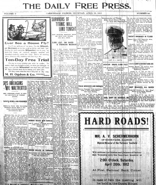 Free press a predecessor to the southern illinoisan the southern