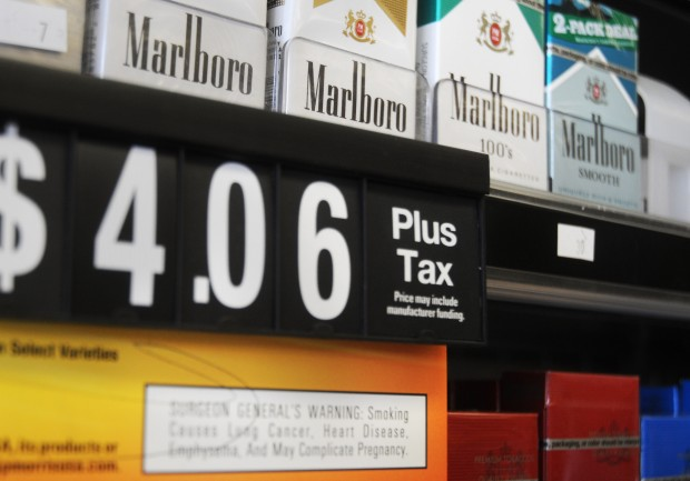 How much does a cigarette packet cost in the USA