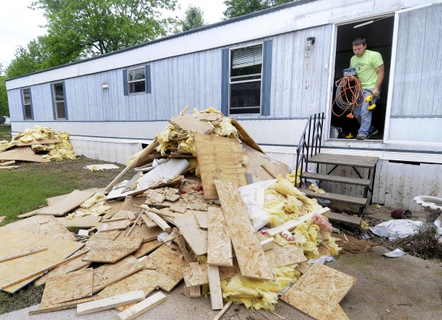 Mobile home park nearly wiped out