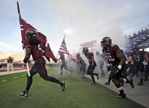 Photos: SIU rolls over Missouri State 73-26 on Saturday