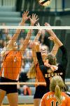 Herrin sweeps Carterville volleyball