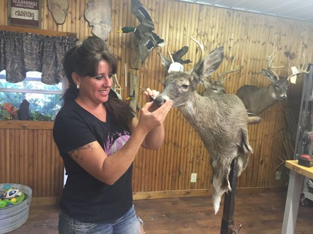 Being a woman in the male world of taxidermy