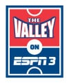 The Valley on ESPN logo vertical