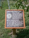 Signage at Labyrinth Peace Park