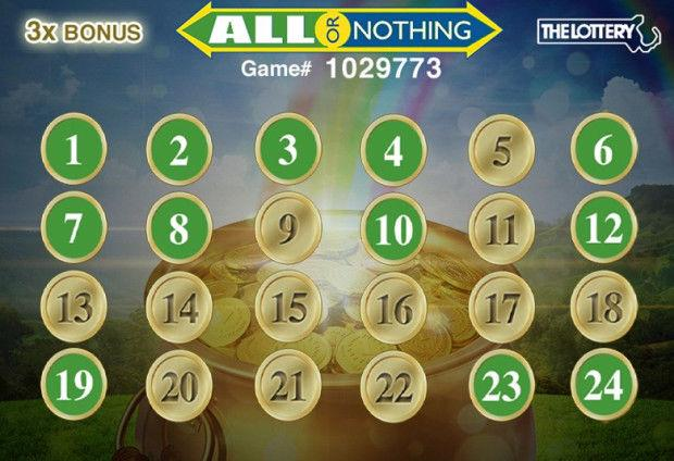 all or nothing lottery game